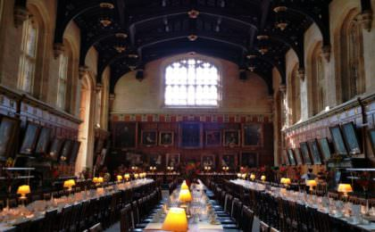 Harry Potter filmlocatie Oxford - Christ Church College Ante-hall