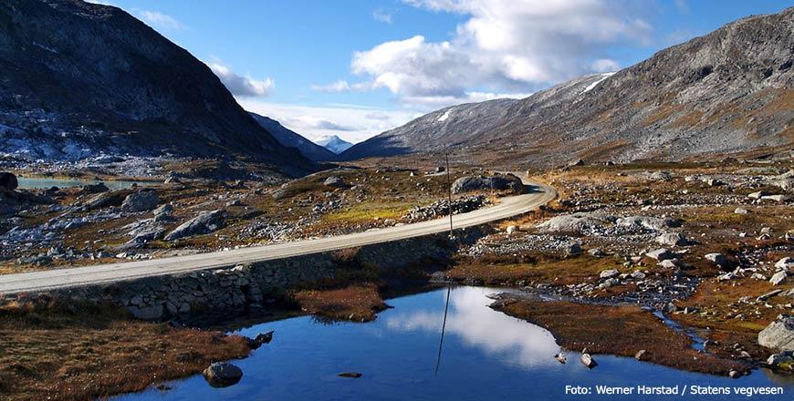 Gamle Strynefjellsvege route Noorwegen