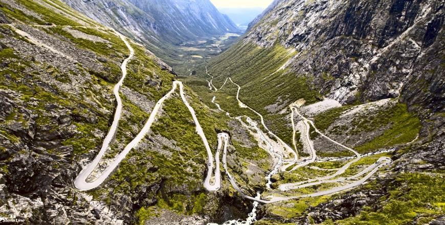 Trollstigen route in Noorwegen