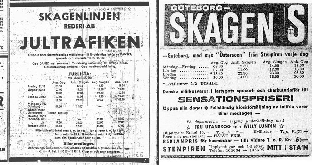 De eerste advertenties.