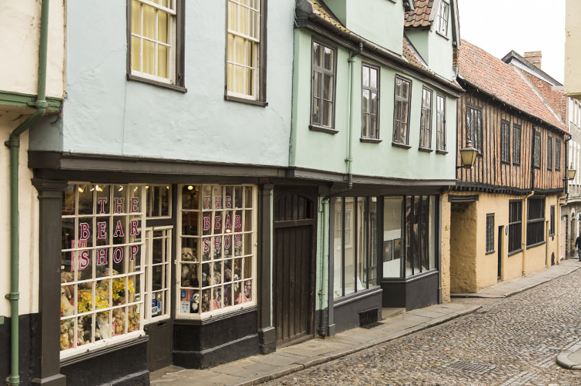 Elms Hill in Norwich's Cathedral Quarter