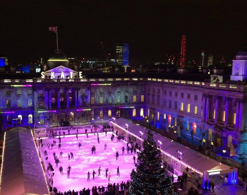 Somerset House IJsbaan in Londen. Foto: Dave Benett