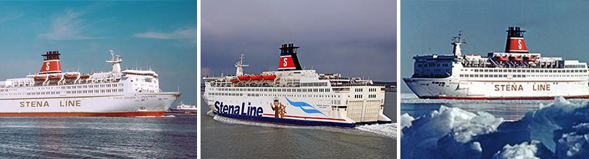 De Stena Danica IV gefotografeerd door de jaren heen.