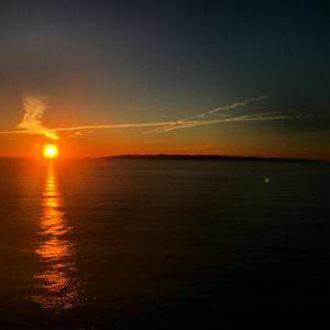 Zonsondergang op de MS Skane door Dennis