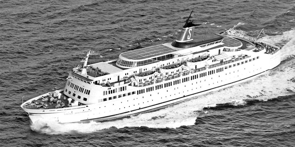 Stena Britannica op zee in 1968