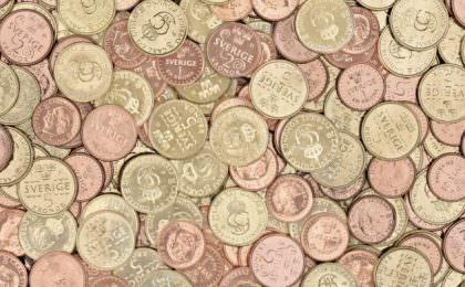 De nieuwe Zweedse kronen munten van 1, 2 en 5 kronen