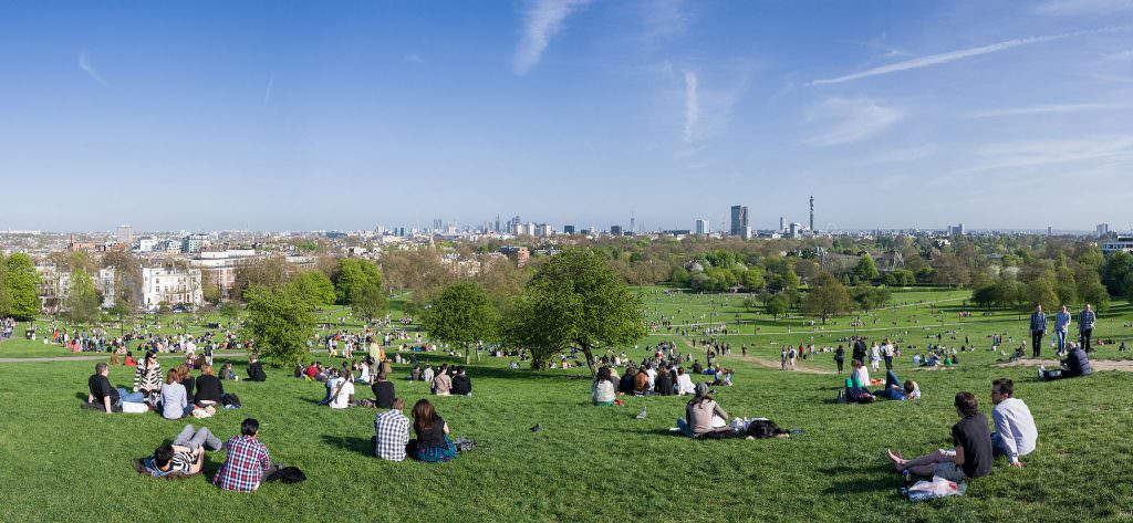 Londen Skyline vanaf Primrose Hill. Photo by DAVID ILIFF. License: CC-BY-SA 3.0