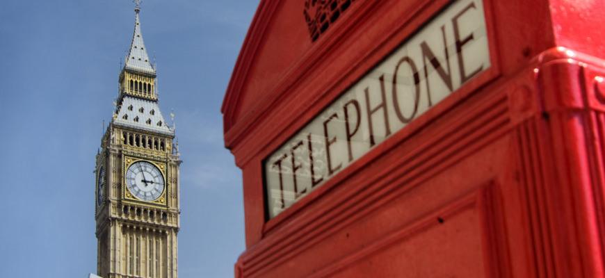 Londen telefooncel bij Big Ben