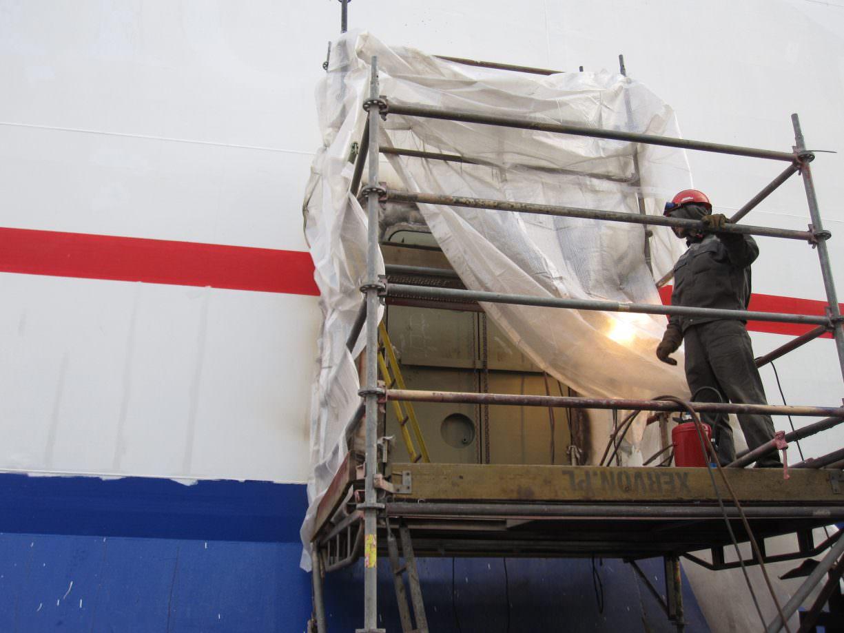 Werkzaamheden Stena Germanica voor aandrijving door methanol