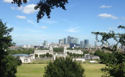 Skyline van Londen vanaf Greenwich