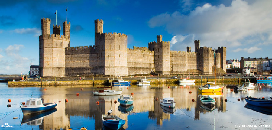 Caernarfon Castle - UNESCO Werelderfgoed in Engeland