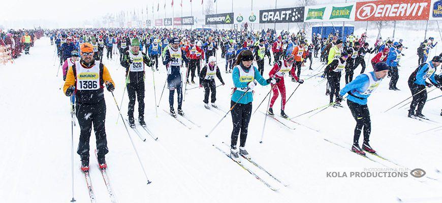 Start van de Vasaloppet, de langste langlaufwedstrijd ter wereld