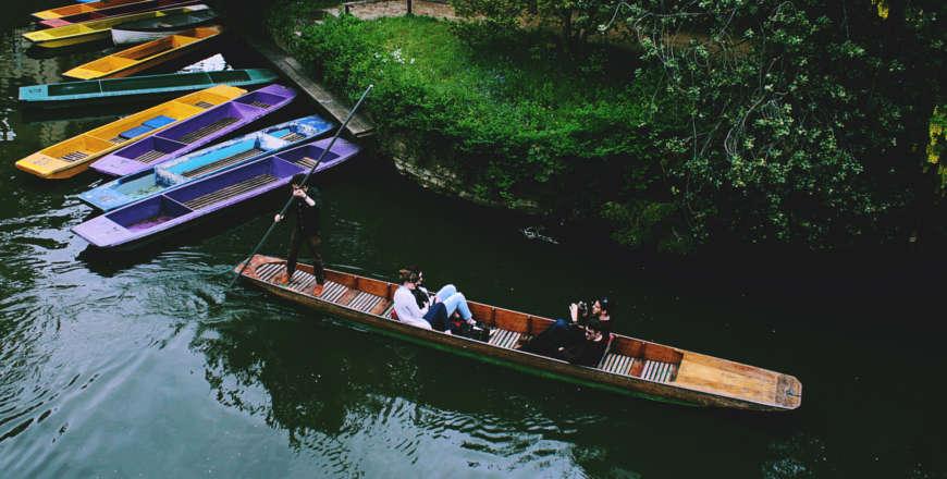 Punteren in gondel Oxford