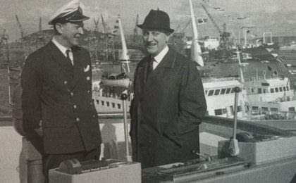 Kapitein Alan Junger en Sten A. Olsson