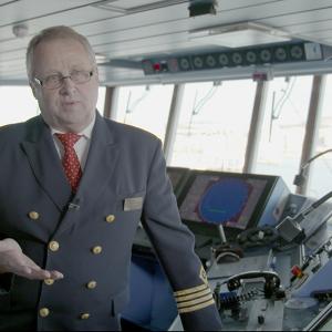 Kapitein Janne Sanborn op de brug