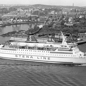 Stena Olympica bij Lindholmen in 1973