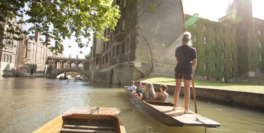 Gondel varen in Cambridge