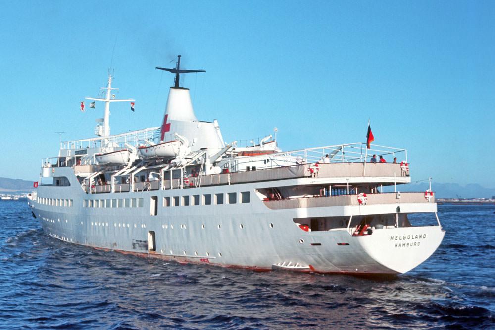 Helgoland als ziekenhuisschip in 1972
