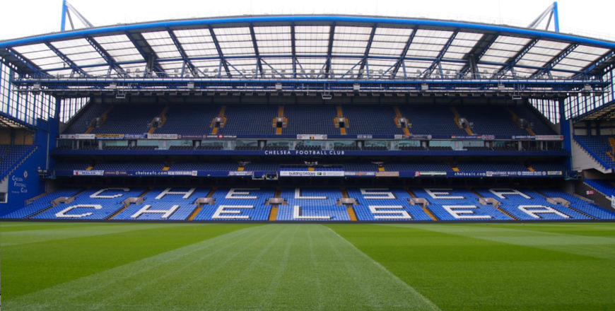 Stamford Bridge stadion van Chelsea in Londen