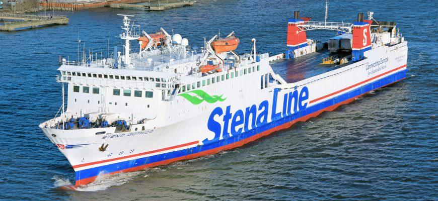 Stena Gothica verlaat de haven van Göteborg op 7 januari 2018. Foto Rickard Sahlsten