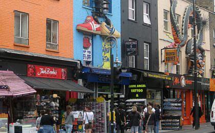 Camden straat in Londen