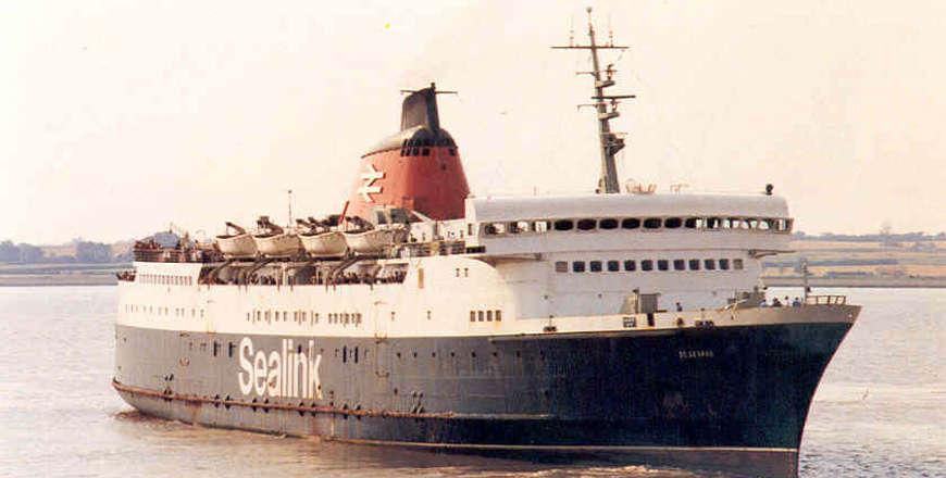 St. George een van de eerste roro schepen op de route Hoek van Holland - Harwich