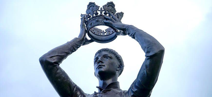Koning met zijn kroon