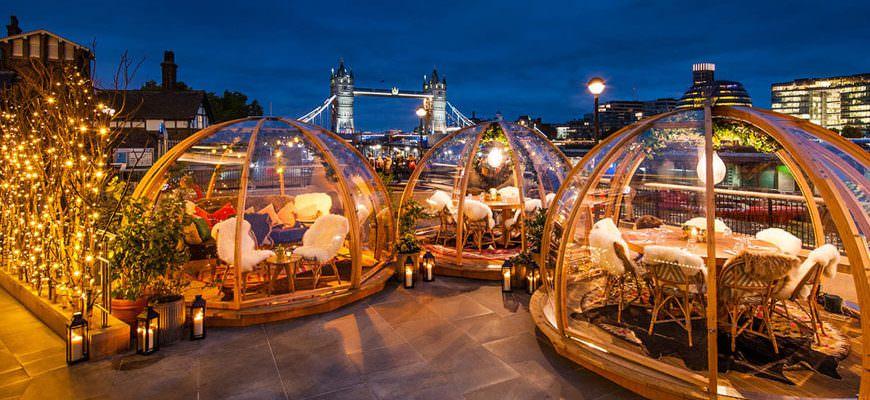 Coppa Club Tower Bridge in Londen - Eten in een Iglo