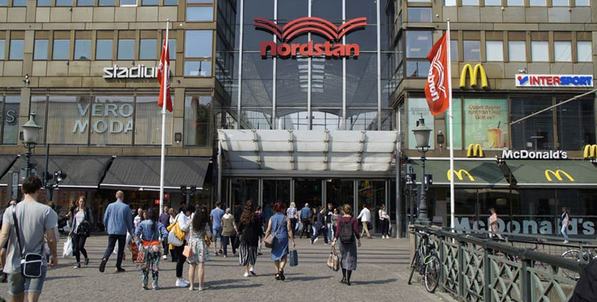 Ingang Nordstan winkelcentrum Göteborg