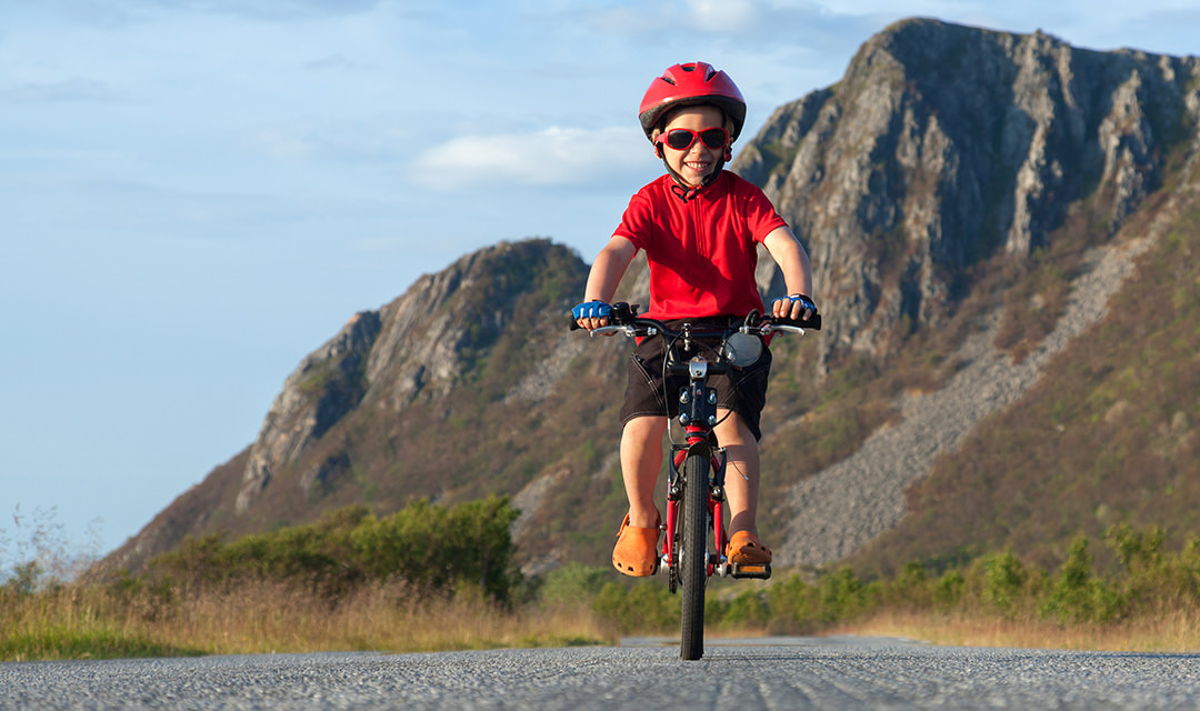 Kind fiets in Zweden