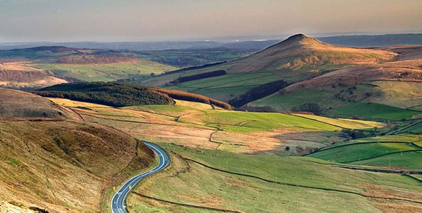 Cat and Fiddle route A537 in Engeland