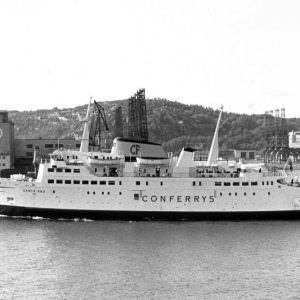 Stena Nordica in juni 1973 en omgedoopt tot Santa Ana