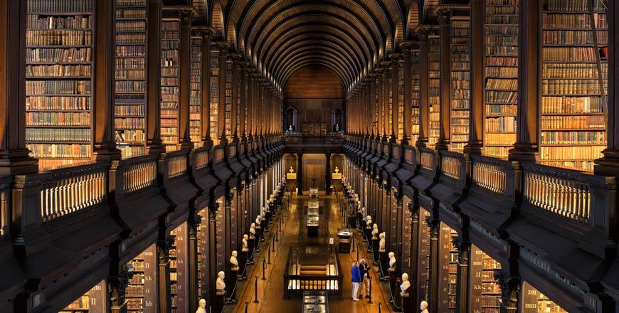 Trinity college long room in Dublin