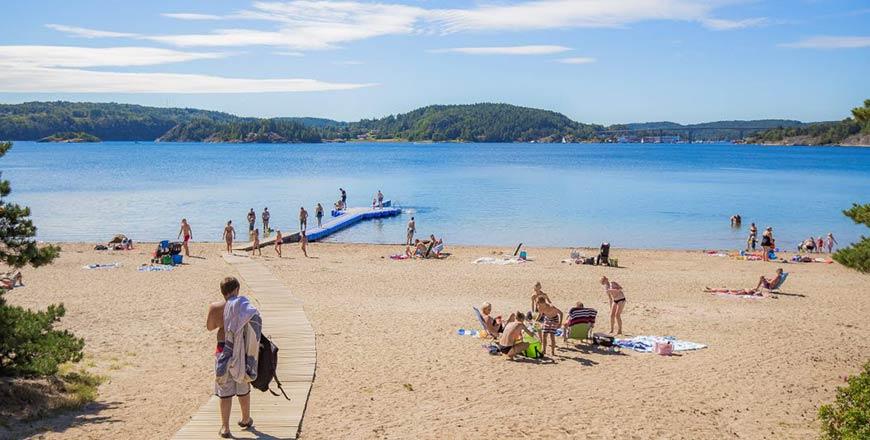 Hafsten Resort meer om te zwemmen
