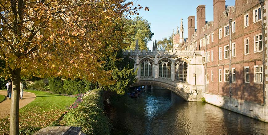 Bridge of Sighs St. Johns college Cambridge