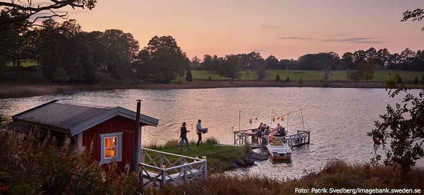Traditioneel Kreeftenfeest in Zweden