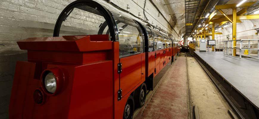 Mail Rail trein in Londen