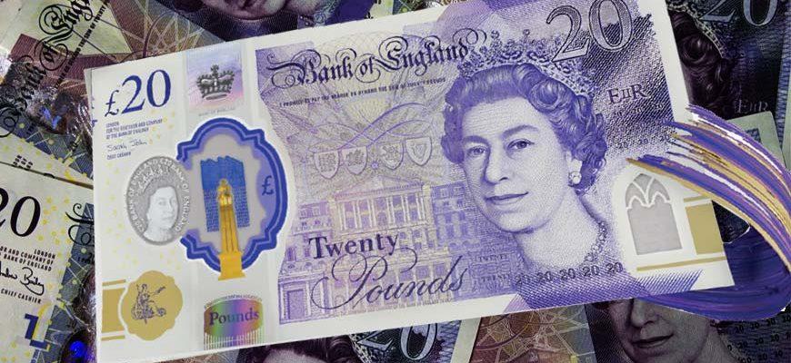 Nieuw 20 Britse Pond Sterling bankbiljet