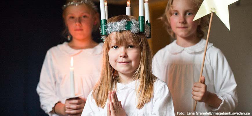 St Lucia viering in Zweden. Foto Lena Granefelt/imagebank.sweden.se