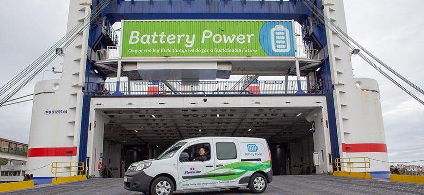 Stena Line ferry op batterij voeding met elektrische auto