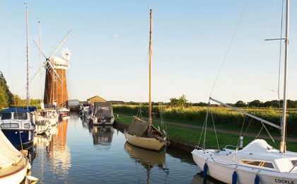 Horsey Mill at Broads National Park